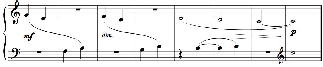 "Memorising music example 3 - eight bars from Kabalevsky's ""First Piece"", op.89"